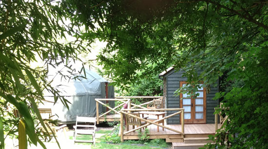 The Deck at Chiltern Yurt Retreat